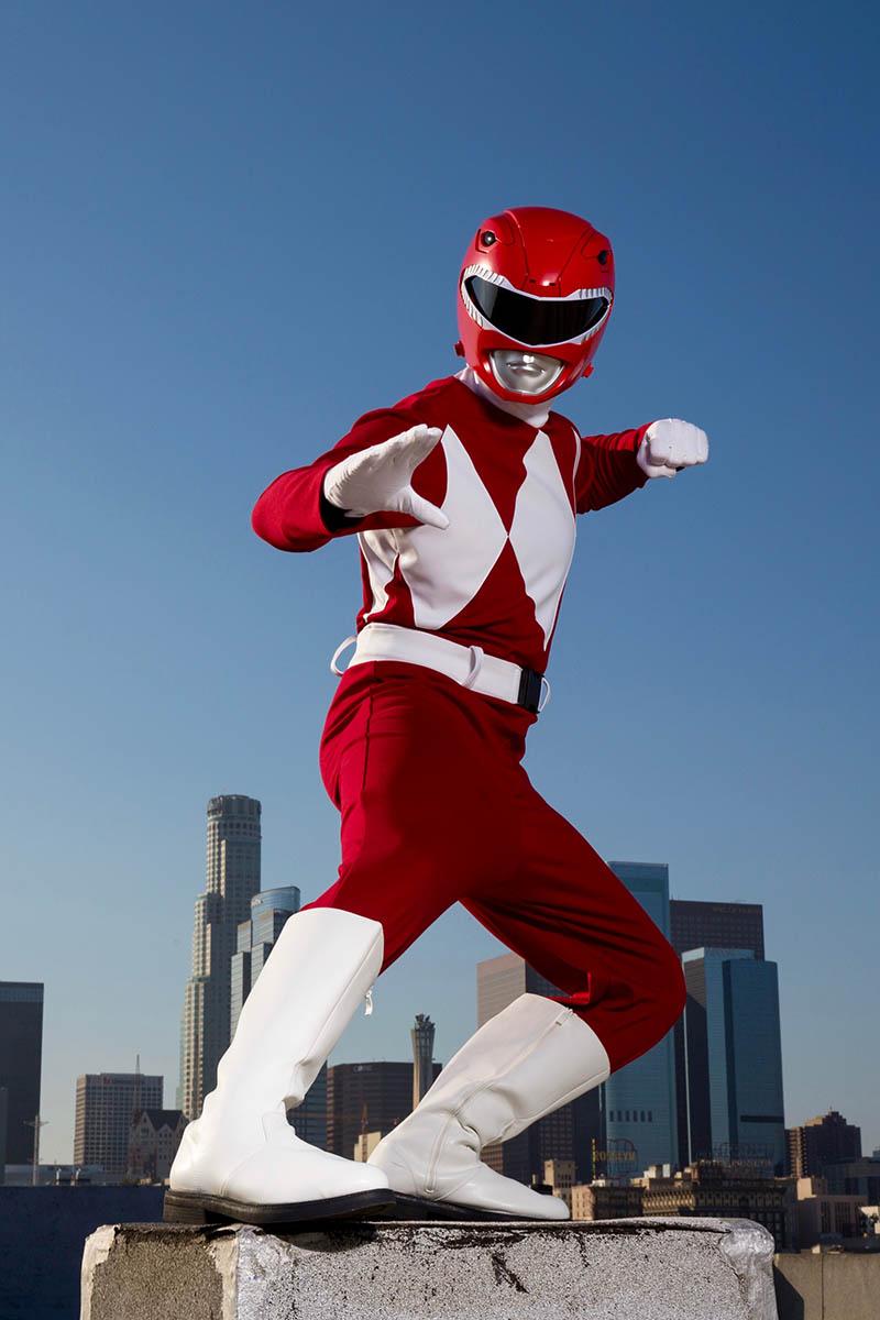 Superhero power ranger party character for kids in austin